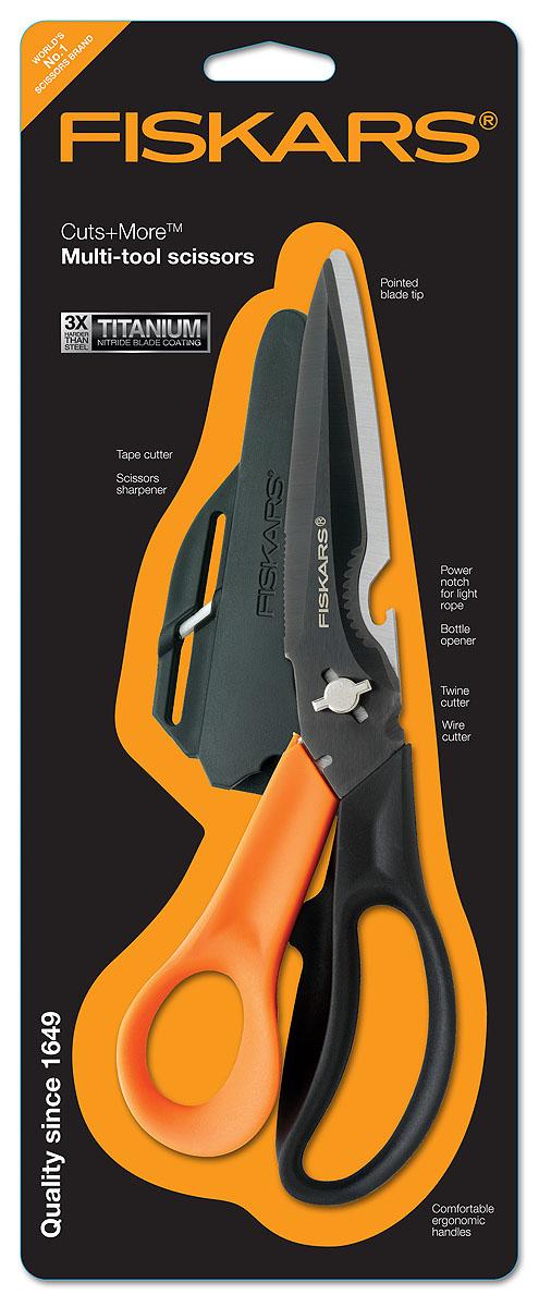 Ножницы многофункциональные Fiskars, для правшей, 23 см