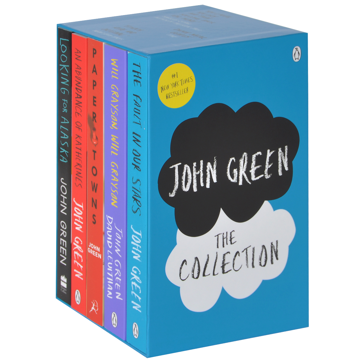 John Green – The Collection: The Fault in Our Stars, Looking for Alaska, Paper Towns, An Abundanc (комплект из 5 книг) цена