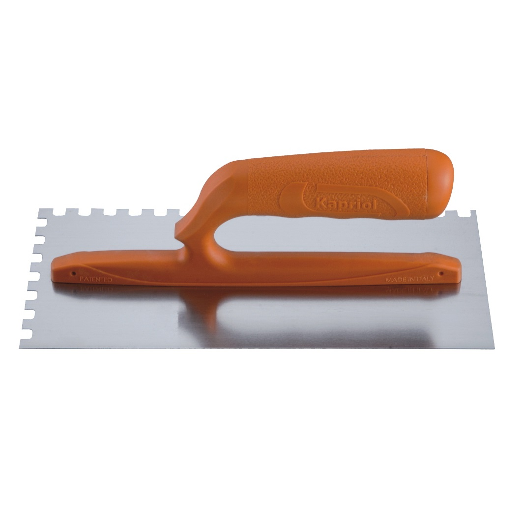 Гладилка зубчатая Kapriol, ручка из стекловолокна, зуб 10 мм, 12 х 28 см плоская зубчатая гладилка 10х10мм fit 05170