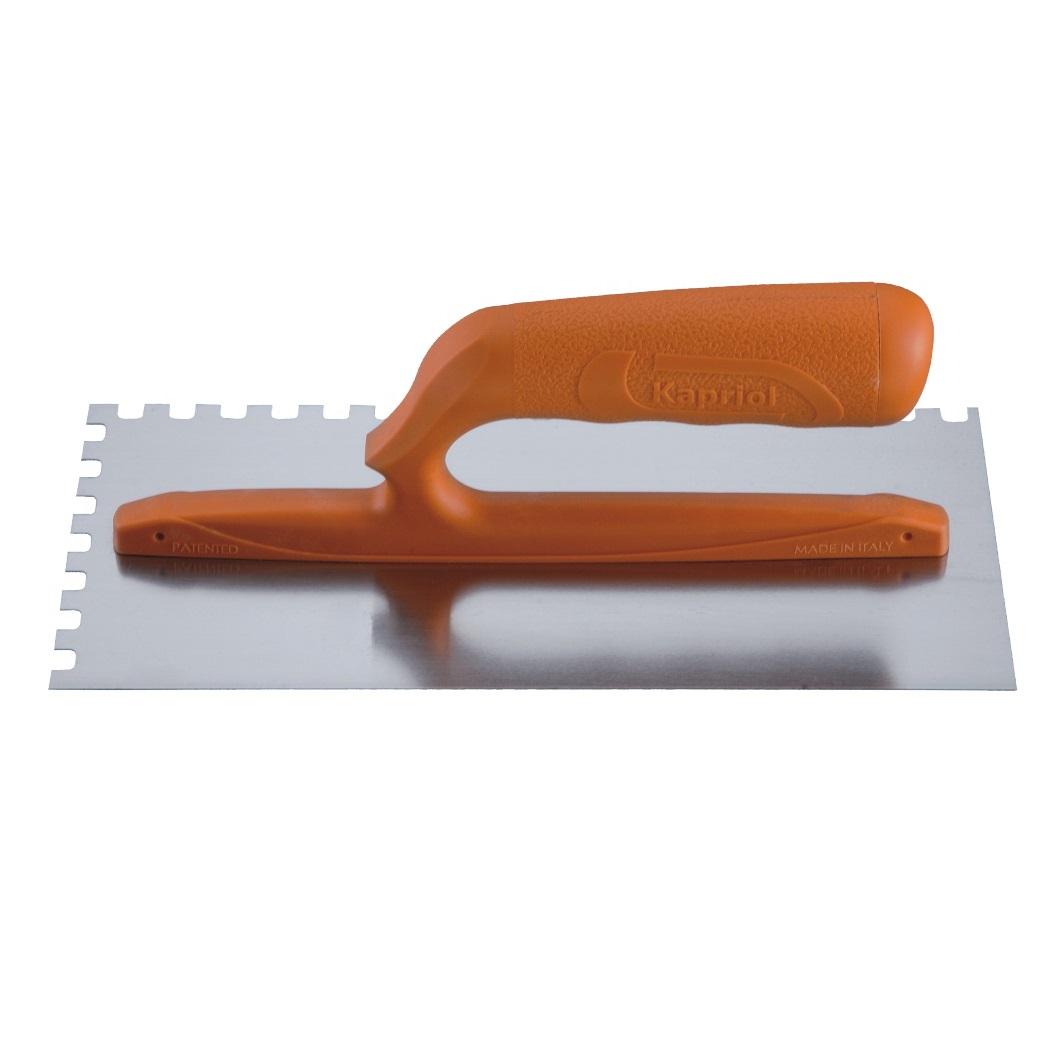 Гладилка зубчатая Kapriol, ручка из стекловолокна, зуб 8 мм, 12 х 28 см плоская зубчатая гладилка 10х10мм fit 05170
