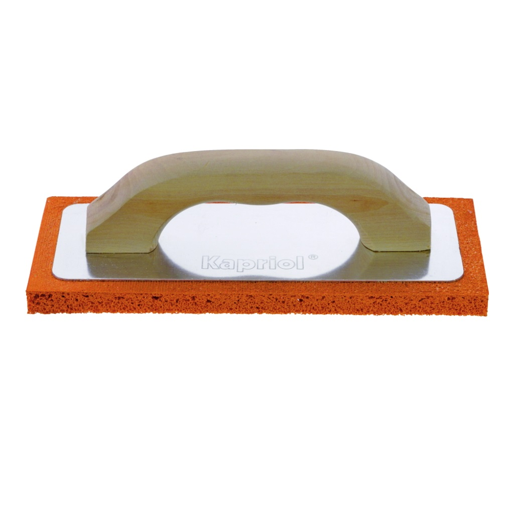 Терка штукатурная Kapriol с мягкой губкой и деревянной ручкой, 14 х 21 см терка для ног деревянная основа двухсторонняя solinberg ширина 60 мм