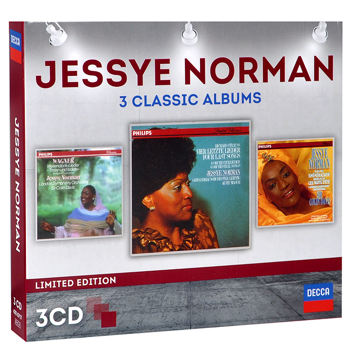 Джесси Норман,Gewandhausorchester Leipzig,Курт Мазур,The London Symphony Orchestra,Колин Дэвис Jessye Norman. 3 Classic Albums. Limited Edition (3 CD) from london leipzig