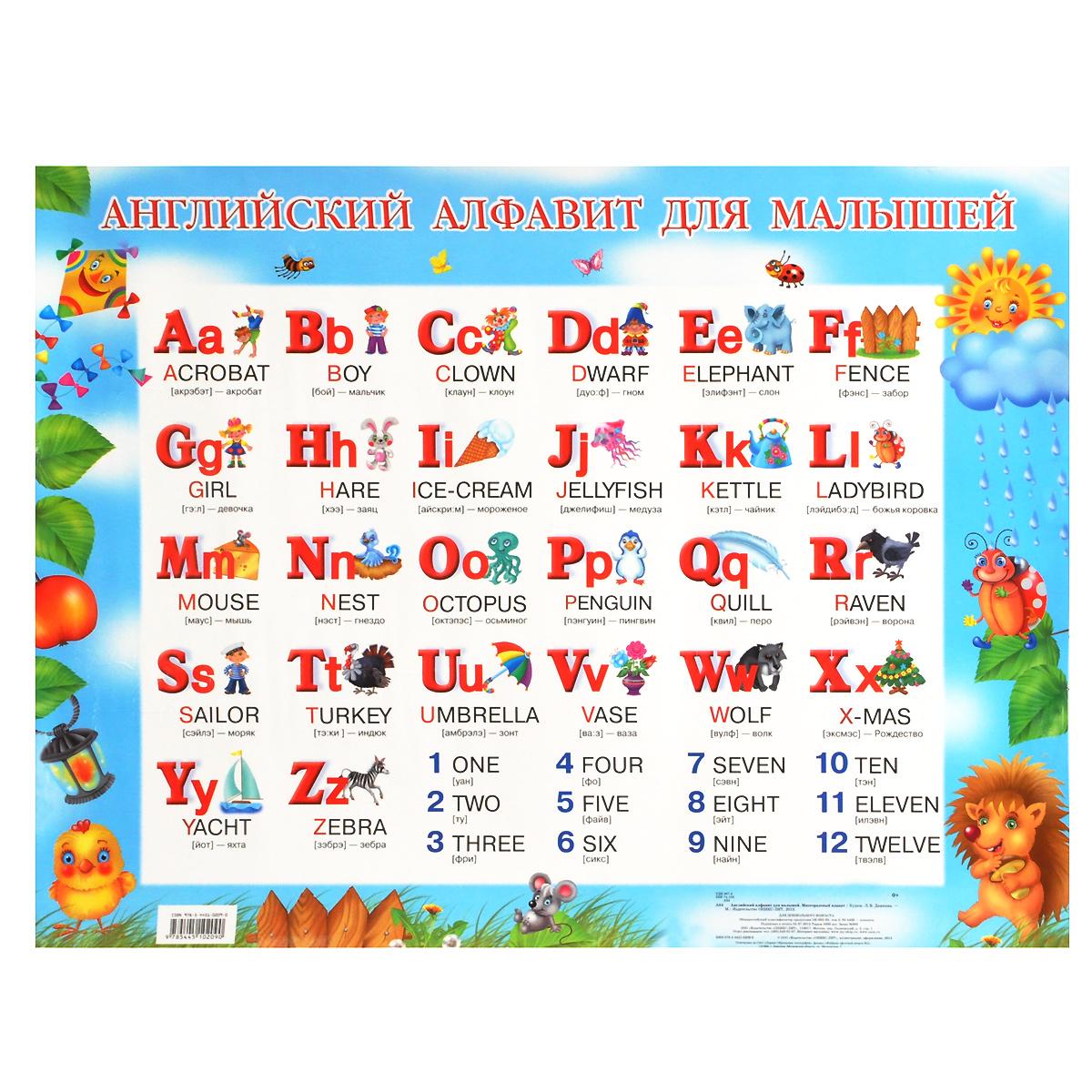 """Книга """"Английский алфавит для малышей. Плакат"""" — купить в ..."""