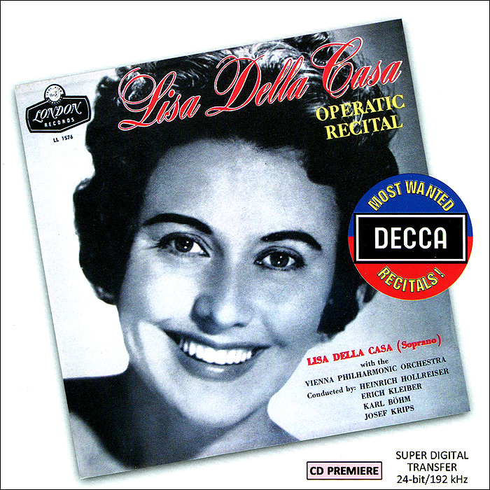 Lisa Della Casa. Operatic Recital флавиано лабо an operatic recital by flaviano labo