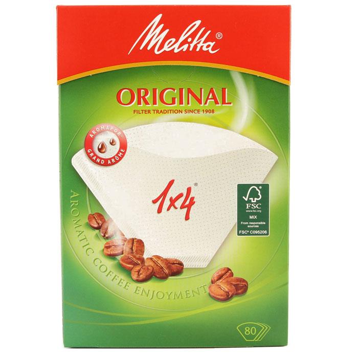 цена на Melitta Original, White фильтры для заваривания кофе, 1х4/80