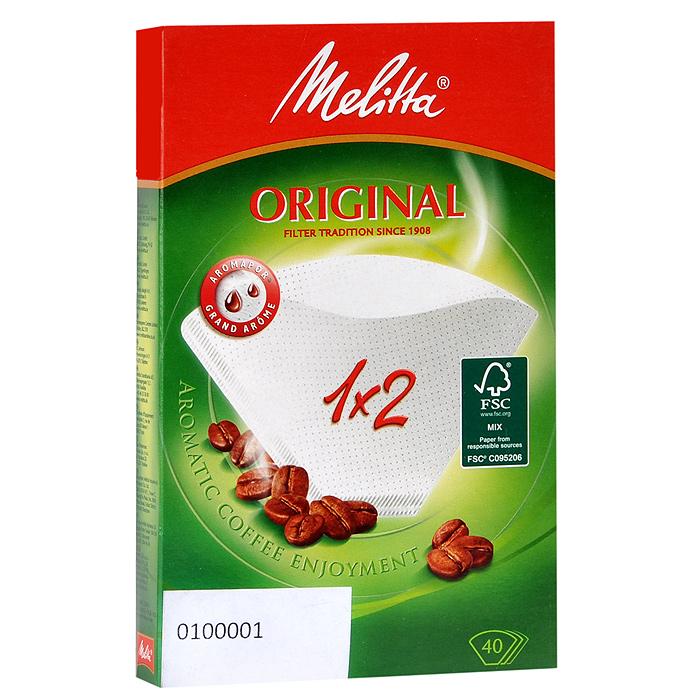 цена на Melitta Original, White фильтры для заваривания кофе, 1х2/40