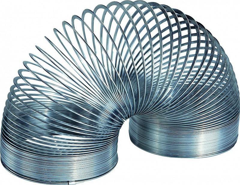 Пружинка Slinky, металлическая, в ретро-коробочке металлическая пружинка
