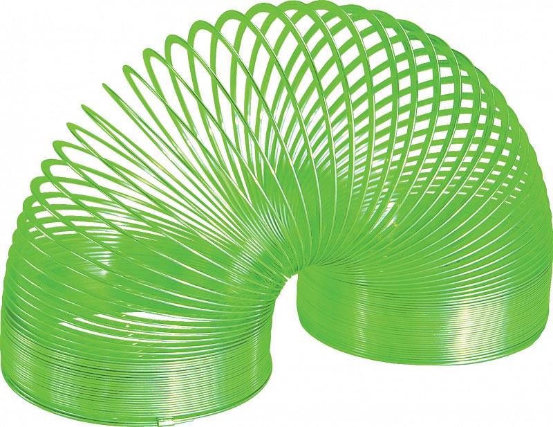 Игрушка-пружинка Slinky, металлическая, цвет: зеленый металлическая пружинка