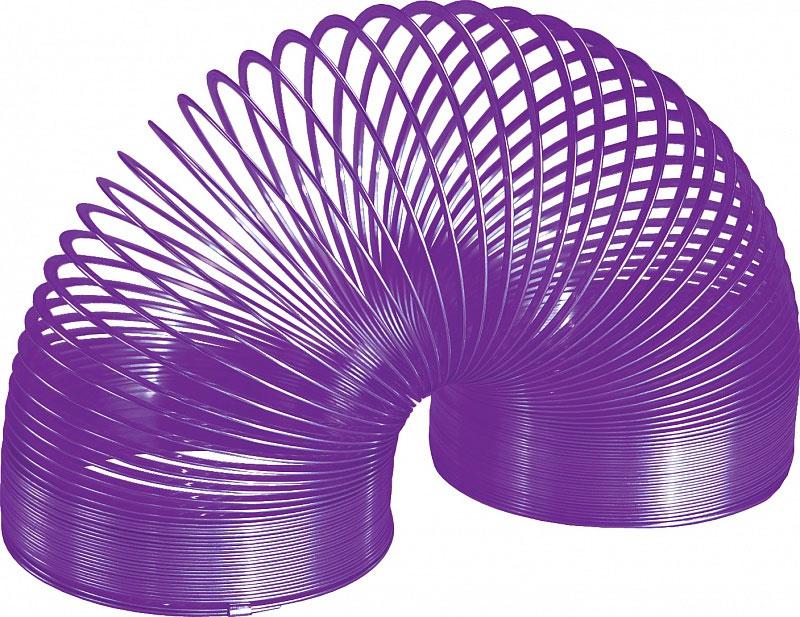 Игрушка-пружинка Slinky, металлическая, цвет: фиолетовый металлическая пружинка