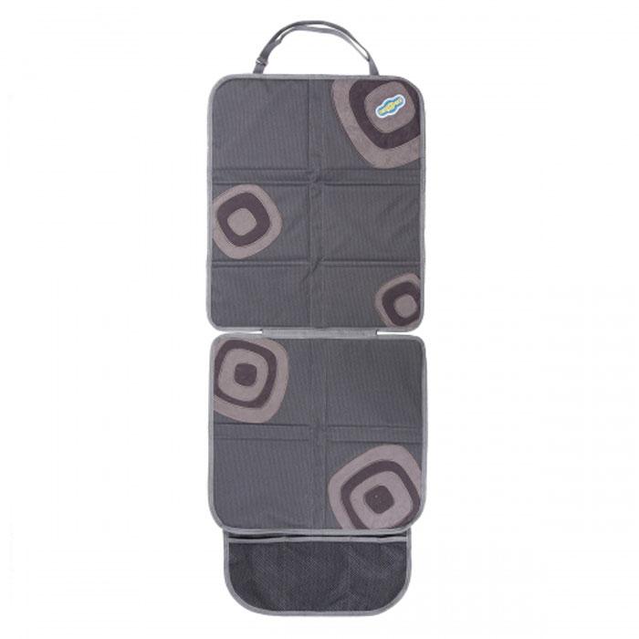 Защитная накидка Смешарики под детское кресло, цвет: серый, 118 х 48 см защитная накидка под бустер смешарики цвет серый красный