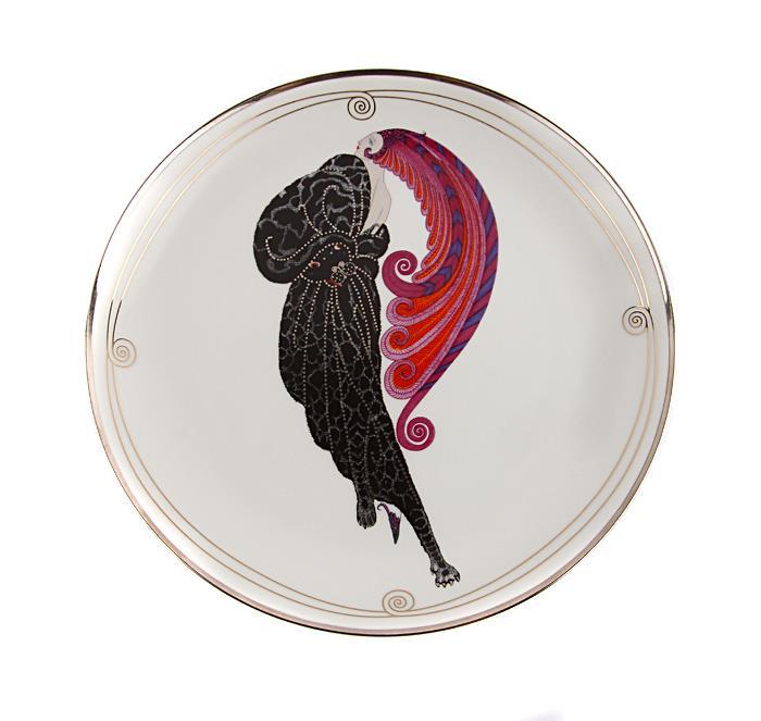 """Красавица и чудовище"", декоративная тарелка. Фарфор, роспись, деколь. The Franklin Mint, США, по заказу Дома Эрте, конец XX века"