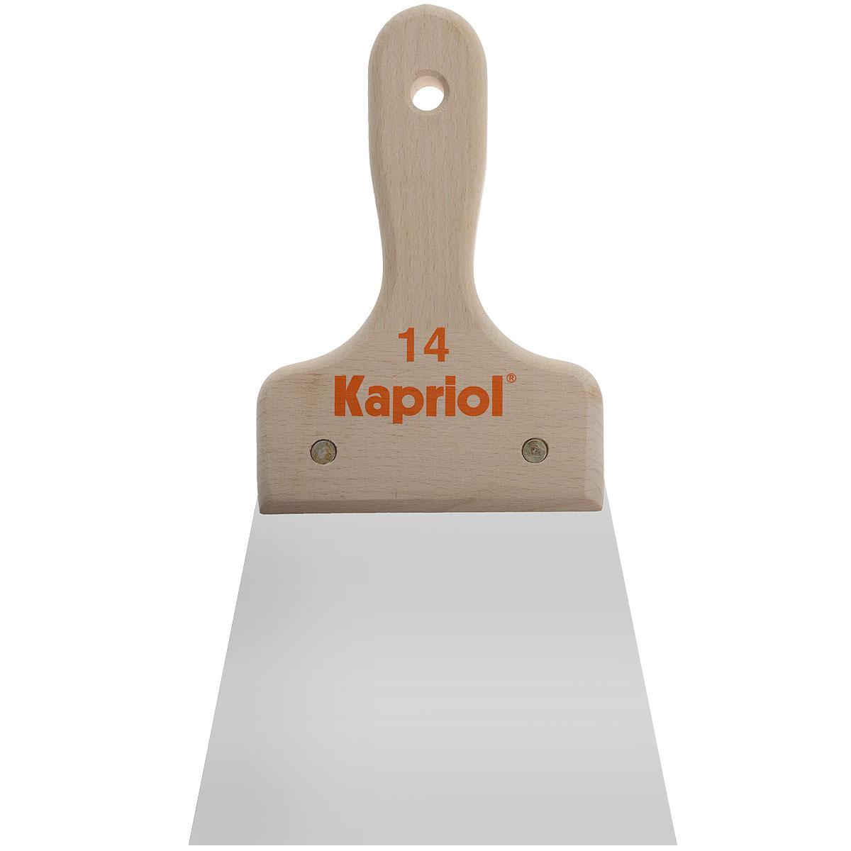 Шпатель полужесткий Kapriol, с деревянной ручкой, 14 см цена