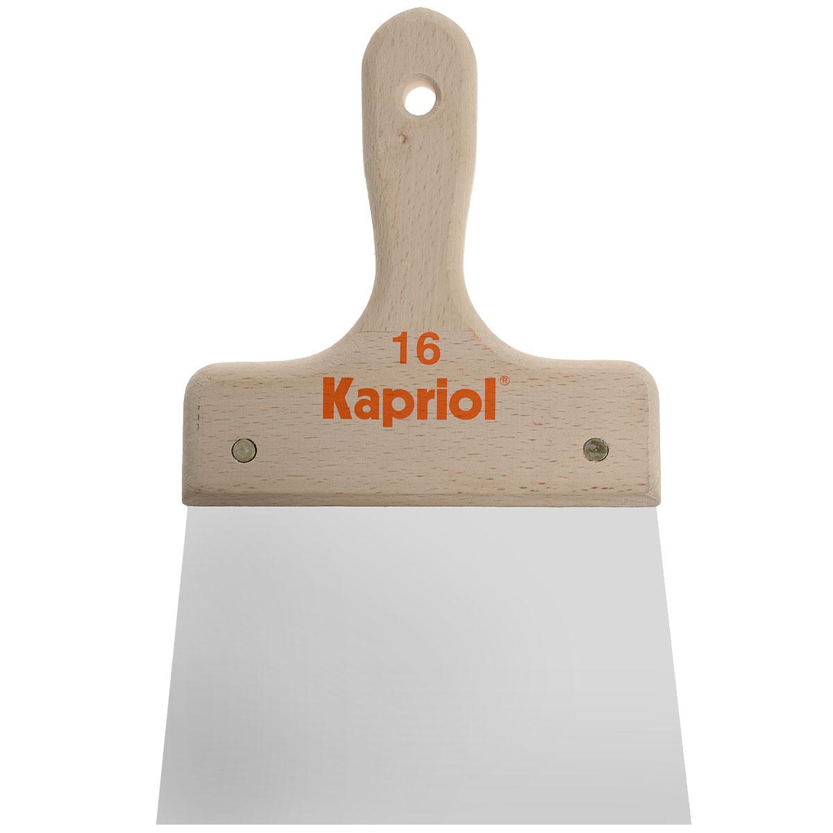 Шпатель полужесткий Kapriol, с деревянной ручкой, 16 см kapriol 100 мм 23203 жесткий кованый полированный шпатель