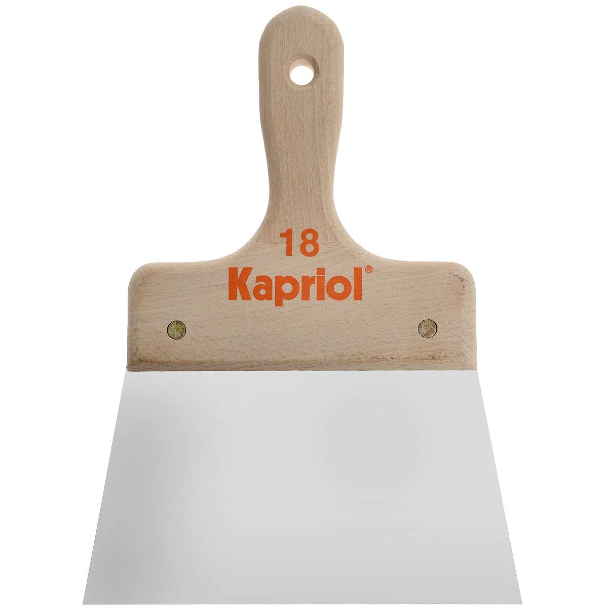 Шпатель полужесткий Kapriol, с деревянной ручкой, 18 см цена