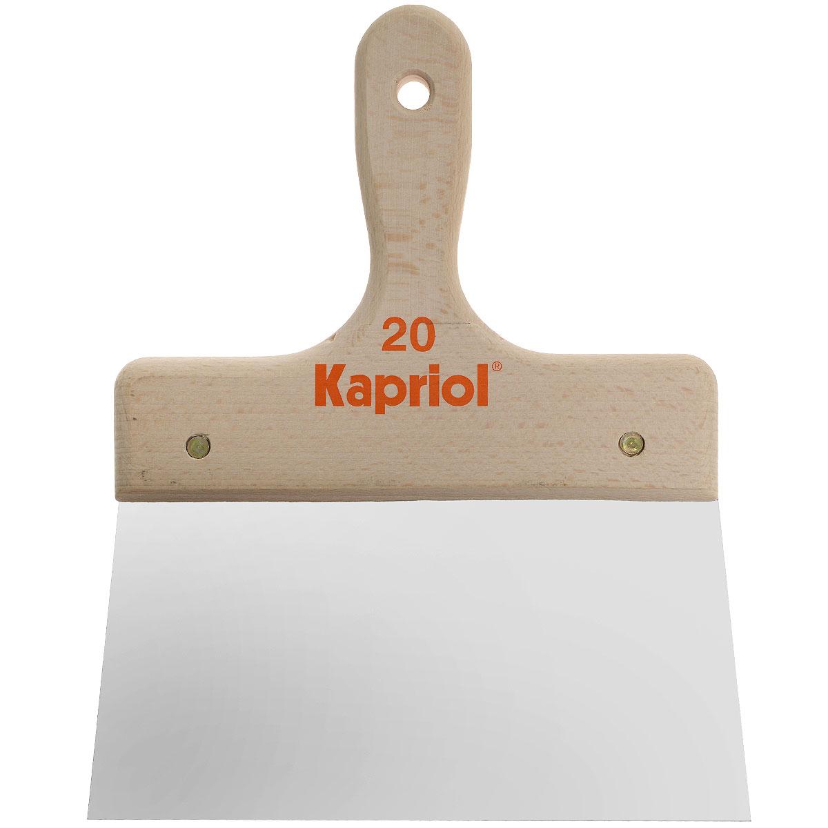 Шпатель полужесткий Kapriol, с деревянной ручкой, 20 см kapriol 100 мм 23203 жесткий кованый полированный шпатель