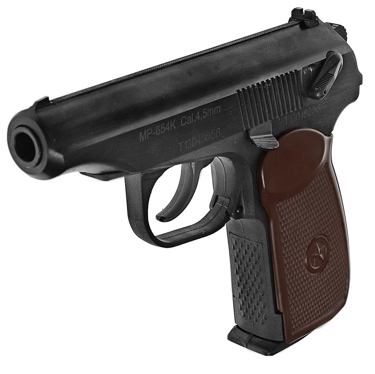 Байкал МР-654К-20 пистолет пневматический, NBB, CO2, 4,5 мм