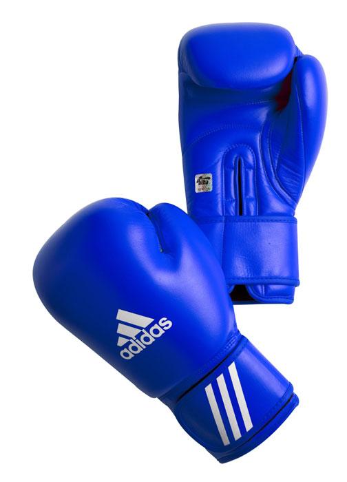 Перчатки боксерские Adidas Aiba, цвет: синий. AIBAG1. Вес 10 унций перчатки боксерские adidas response сине белые 10 унций adibt01