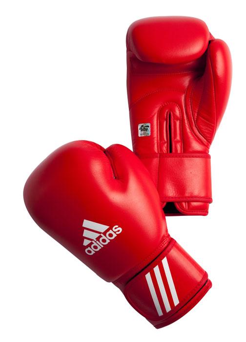 Перчатки боксерские Adidas Aiba, цвет: красный. AIBAG1. Вес 10 унций перчатки боксерские adidas response сине белые 10 унций adibt01