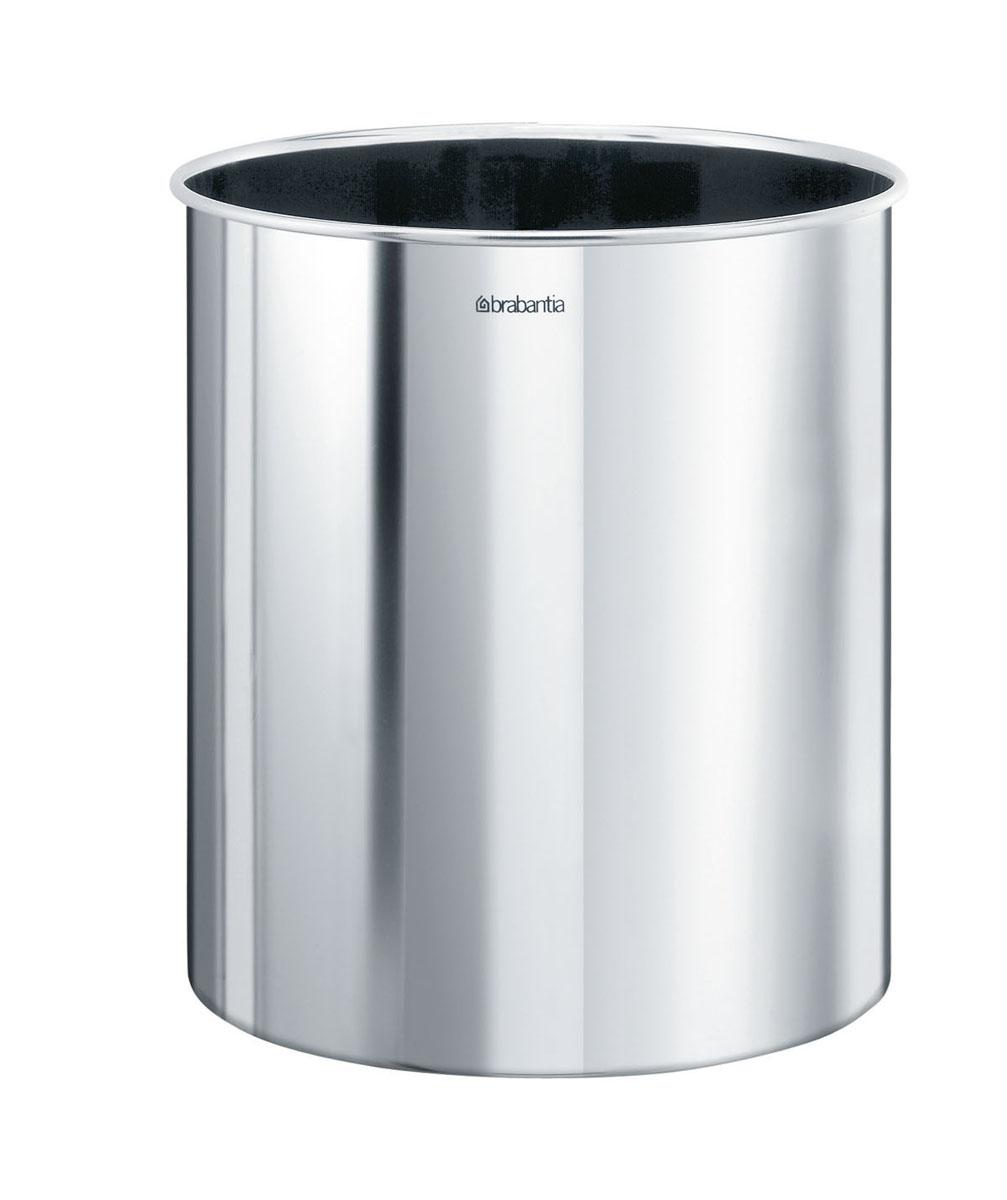 Корзина для бумаг Brabantia, цвет: стальной полированный, 7 л. 181207 несгораемая корзина для бумаг 30 л 1056629