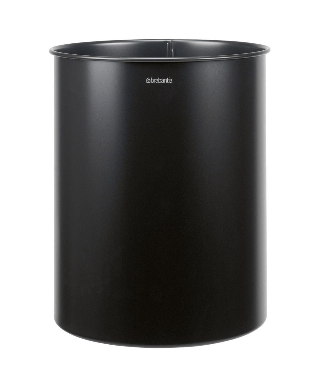 """Корзина для бумаг """"Brabantia"""", цвет: черный, 15 л. 181443"""