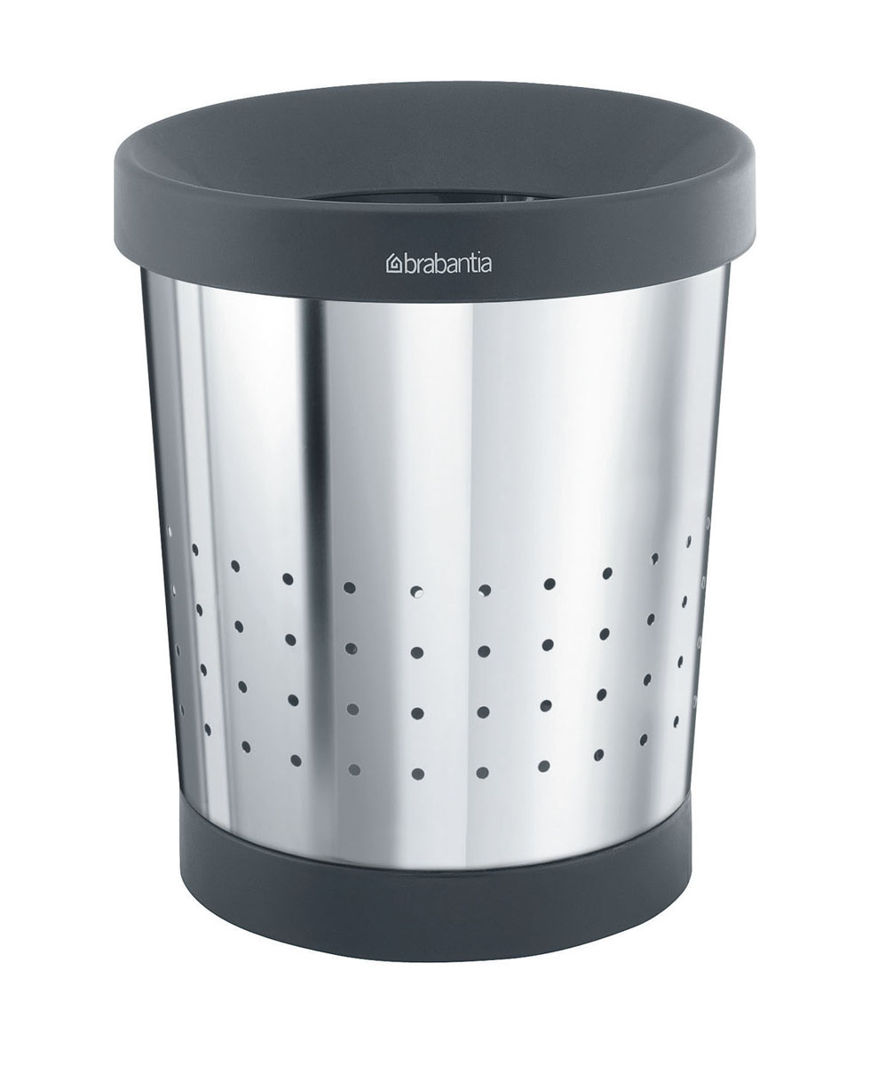 Корзина для бумаг Brabantia, цвет: стальной полированный, 5 л. 364280 корзина для мусора umbra woodrow 7 5 л эспрессо