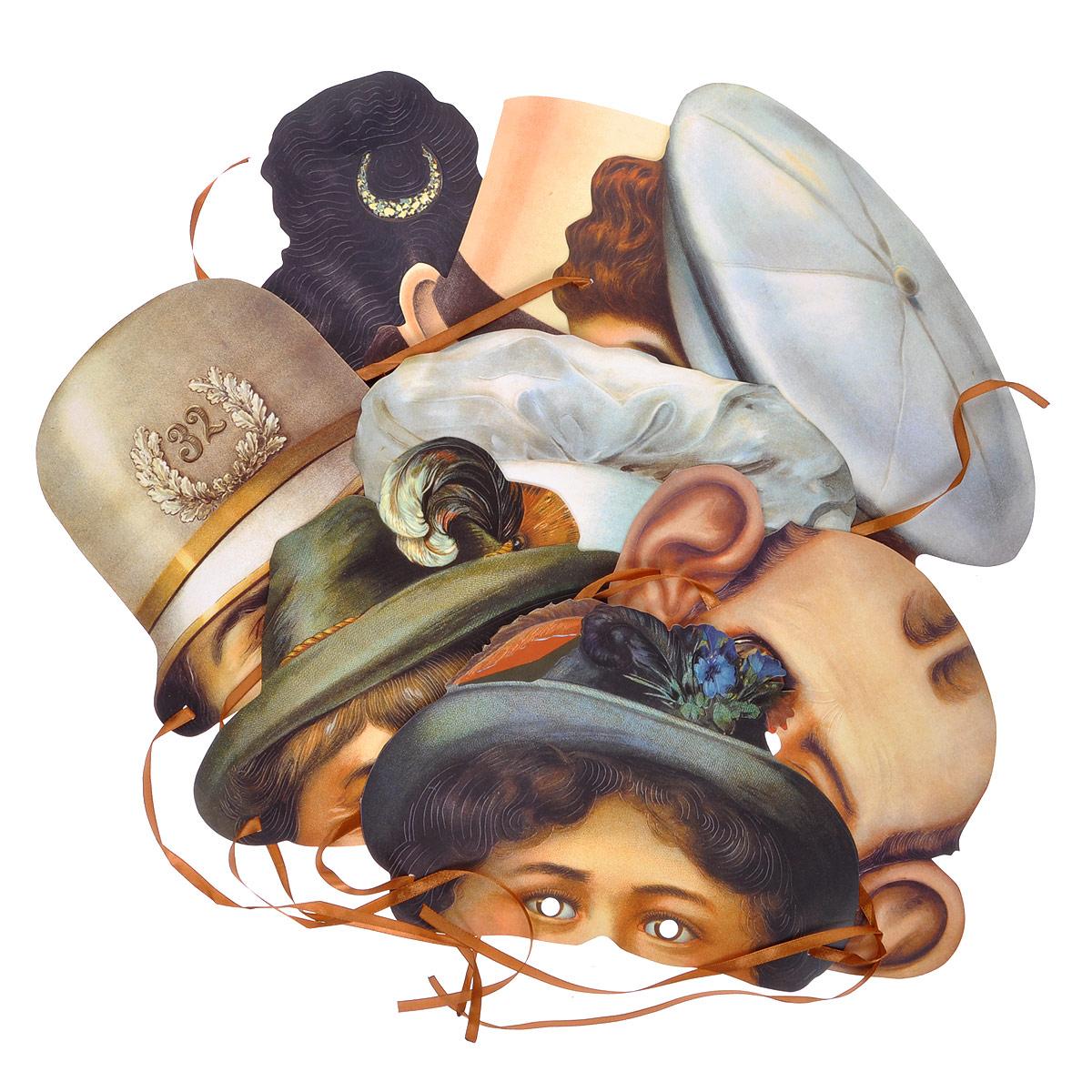 Маски карнавальные Европа ХХ век, 8 шт набор карнавальных масок эврика америка xx век 8 предметов
