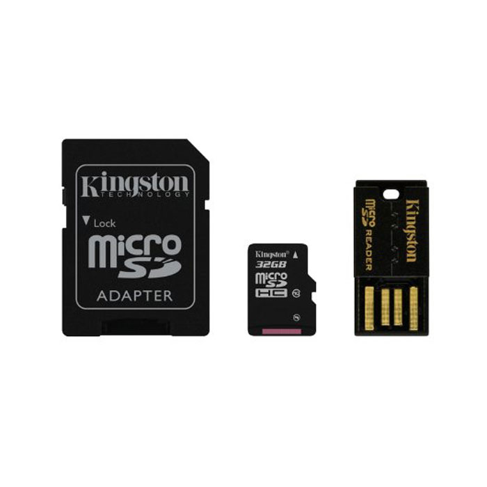 Kingston Mobility Kit microSDHC Class 10 32GB (MBLY10G2/32GB) карта памяти + адаптер