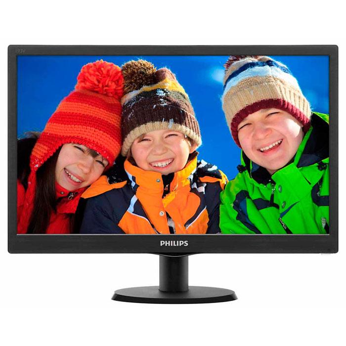 Монитор Philips 193V5LSB2 (10/62), Glossy Black монитор philips 18 5 193v5lsb2 200cd 1366x768 d sub