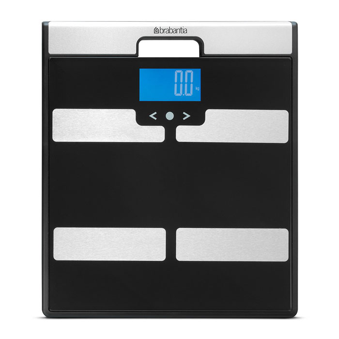 """Напольные весы """"Brabantia"""", с мониторингом веса, цвет: черный. 481949"""