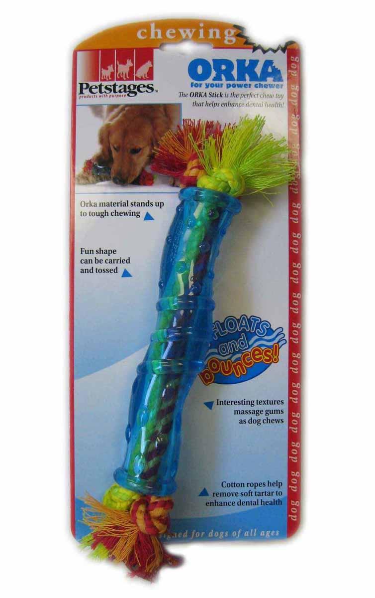 """Игрушка для собак средних и крупных пород Petstages """"Оrka. Палочка"""", цвет: голубой, 30 см"""