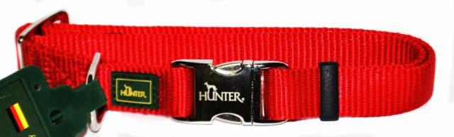 Ошейник для собак Hunter Smart ALU-Strong M, цвет: красный hunter smart hunter ошейник для собак alu strong paisley m 40 55 см нейлон с металлической застежкой мотив индийские огурцы