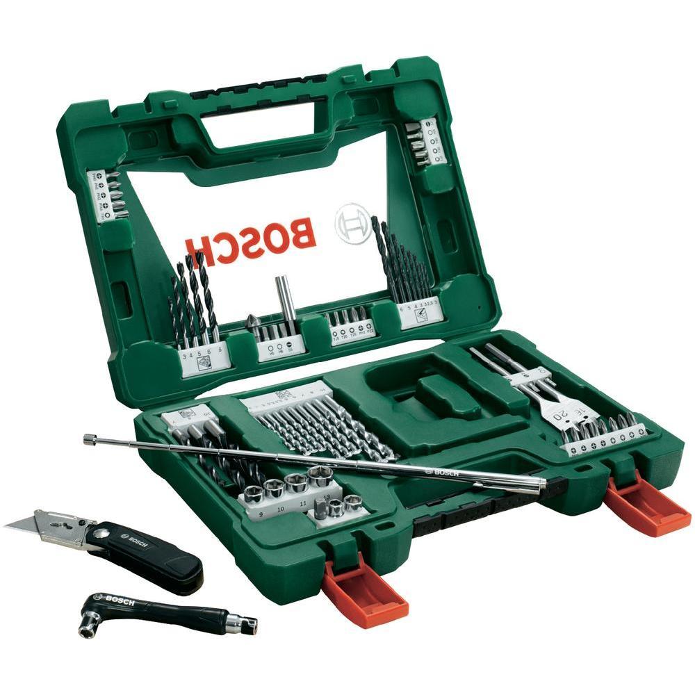 Набор принадлежностей Bosch V-Line, 68 предметов сверло калибр 3 4 5 6 7 8 9 10 мм по дереву 8шт