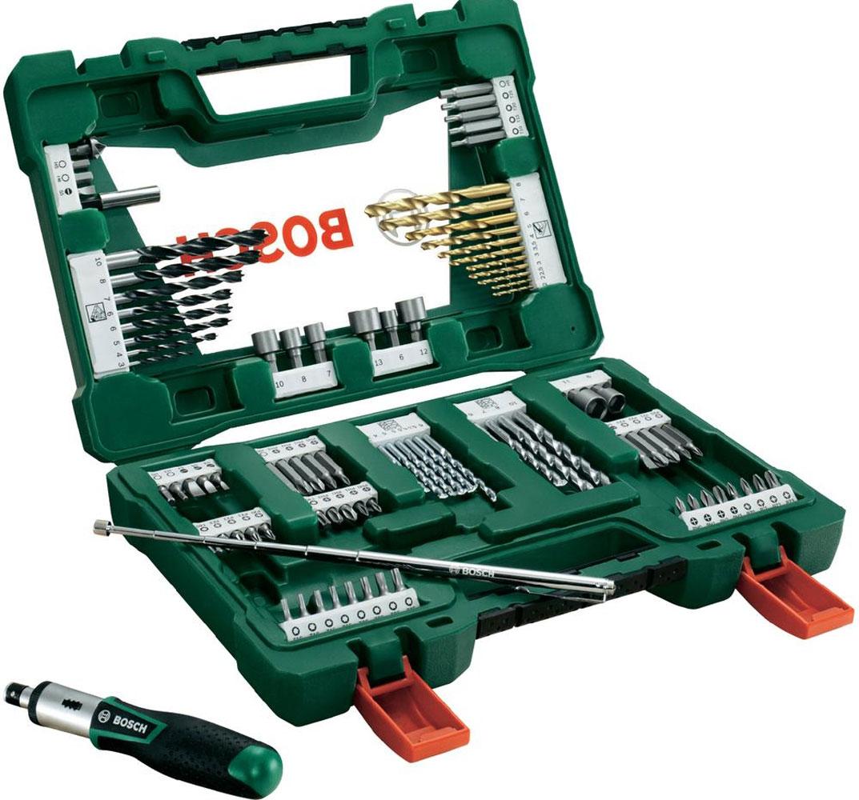 Фото - Набор принадлежностей Bosch V-Line, 91 предмет набор бит зубр эксперт 26052 h11 с маг адаптером cr mo ph1 ph2 ph3 pz1 pz2 pz3 hex 3 4 5 6 11шт