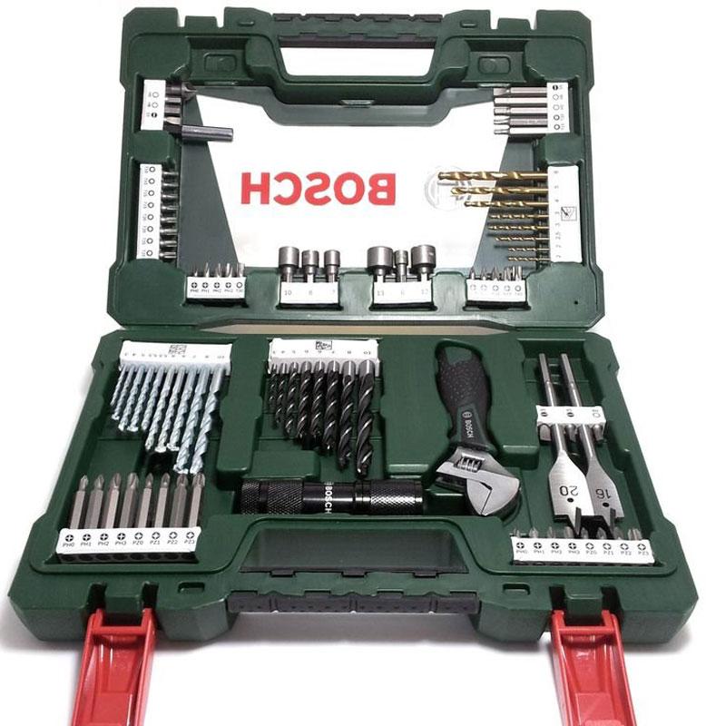 Фото - Набор принадлежностей Bosch V-Line, 83 предмета набор бит зубр эксперт 26052 h11 с маг адаптером cr mo ph1 ph2 ph3 pz1 pz2 pz3 hex 3 4 5 6 11шт