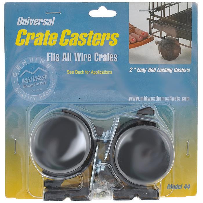 Колеса для клеток Midwest Universal Crate Caster, универсальные, 2 шт накладные колеса bed mobile накладные колеса с дисками для ауди а4 мустанг камаро 2 шт
