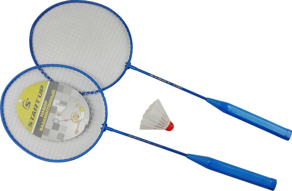 Набор для бадминтона Start Up R-215, цвет: синий, белый, 3 предмета цена