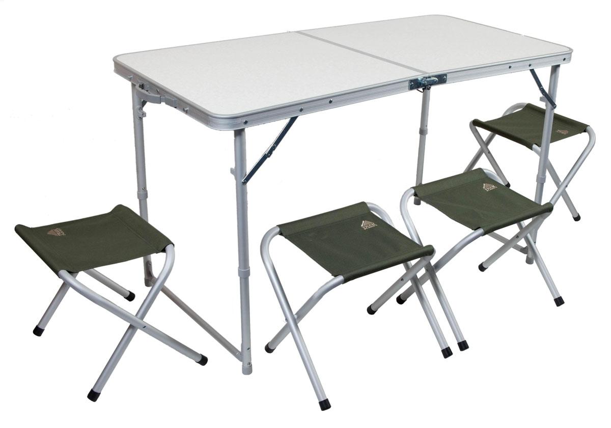 Набор мебели складной TREK PLANET Event Set 120, кемпинговый, 120х60х70 см, алюм. набор мебели trek planet event set 95 стол и 4 стула 70667