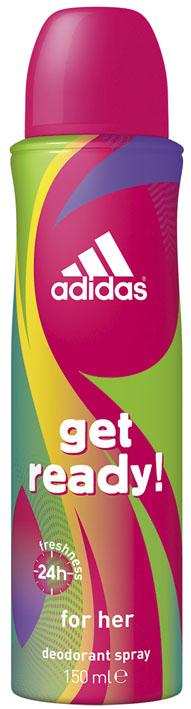"Adidas Дезодорант-спрей ""Get Ready!"", женский, 150 мл"