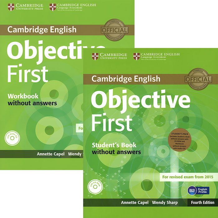 Objective First Student's Pack (комплект из 2 книг + CD, CD-ROM) gold first first certificate in english coursebook cd rom