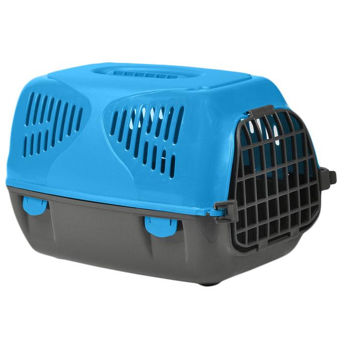 Переноска для животных MPS Sirio Little, цвет: серый, голубой, 33,5 см х 31 см х 50 см переноска mps sirio little красная 50x33 5x31h см для животных