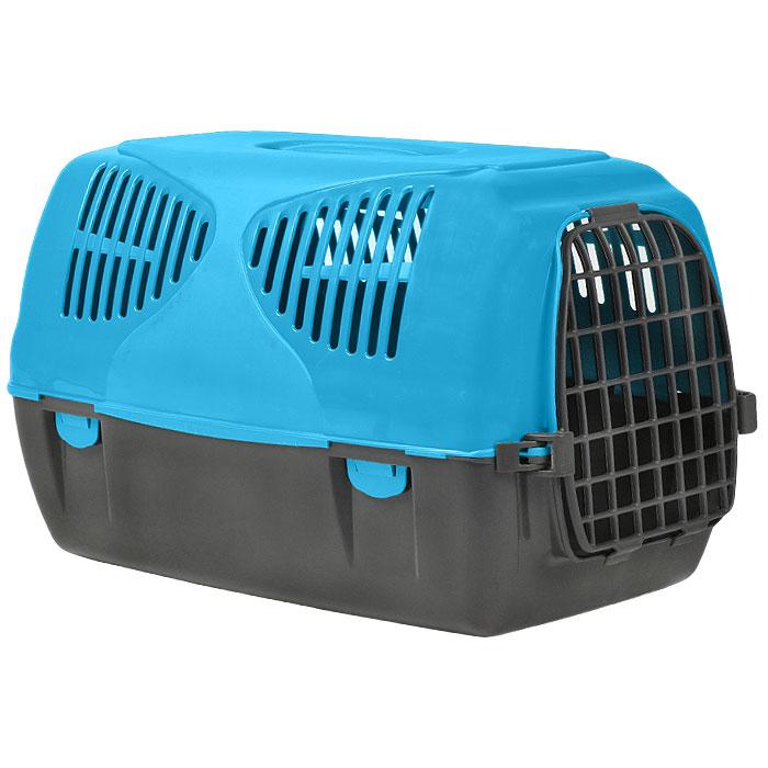 Переноска для животных MPS Sirio Big, цвет: серый, голубой, 64 х 39 х 39 см переноска mps sirio little красная 50x33 5x31h см для животных