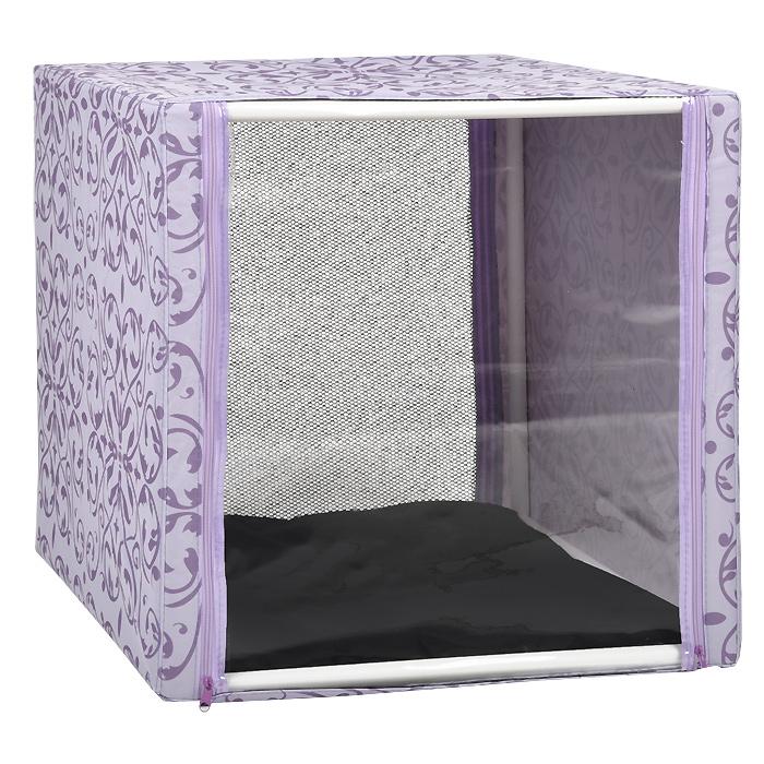 """Клетка для кошек """"Разводы"""", выставочная, разборная, цвет: сиреневый, 56 см х 56 см х 56 см"""