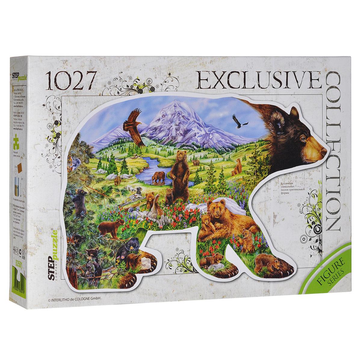Медведь. Фигурный пазл, 1027 элементов