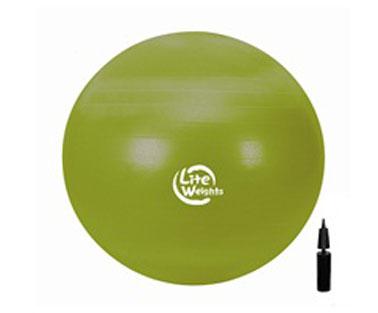 Мяч гимнастический Lite Weights, цвет: зеленый, диаметр 65 см мяч гимнастический ecowellness цвет серый зеленый диаметр 65 см