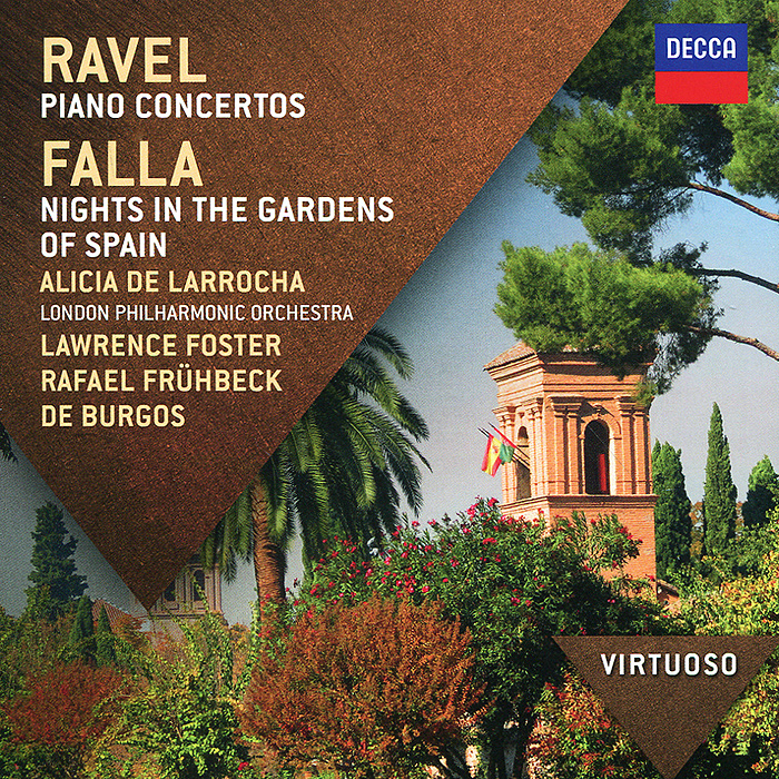 Фото - Алисия де Ларроча,Лоренс Фостер Alicia De Larrocha, Lawrence Foster, Rafael Fruhbeck De Burgos. Ravel. The Piano Concertos / Falla. Nights In The Gardens Of Spain алисия де ларроча chamber orchestra of the europe джордж солти london philharmonic orchestra mozart alicia de larrocha piano concertos 24 27 2 cd