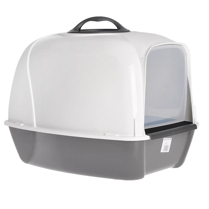 Био-туалет для кошек MPS Pixi, цвет: белый, серый mps pixi