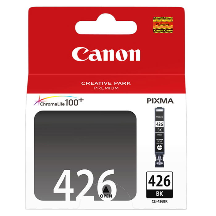 Картридж Canon CLI-426BK, черный, для струйного принтера, оригинал