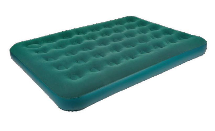 """Кровать надувная Jilong """"DOUBLE"""" с ножным насосом, 191 х 137 х 22 см"""