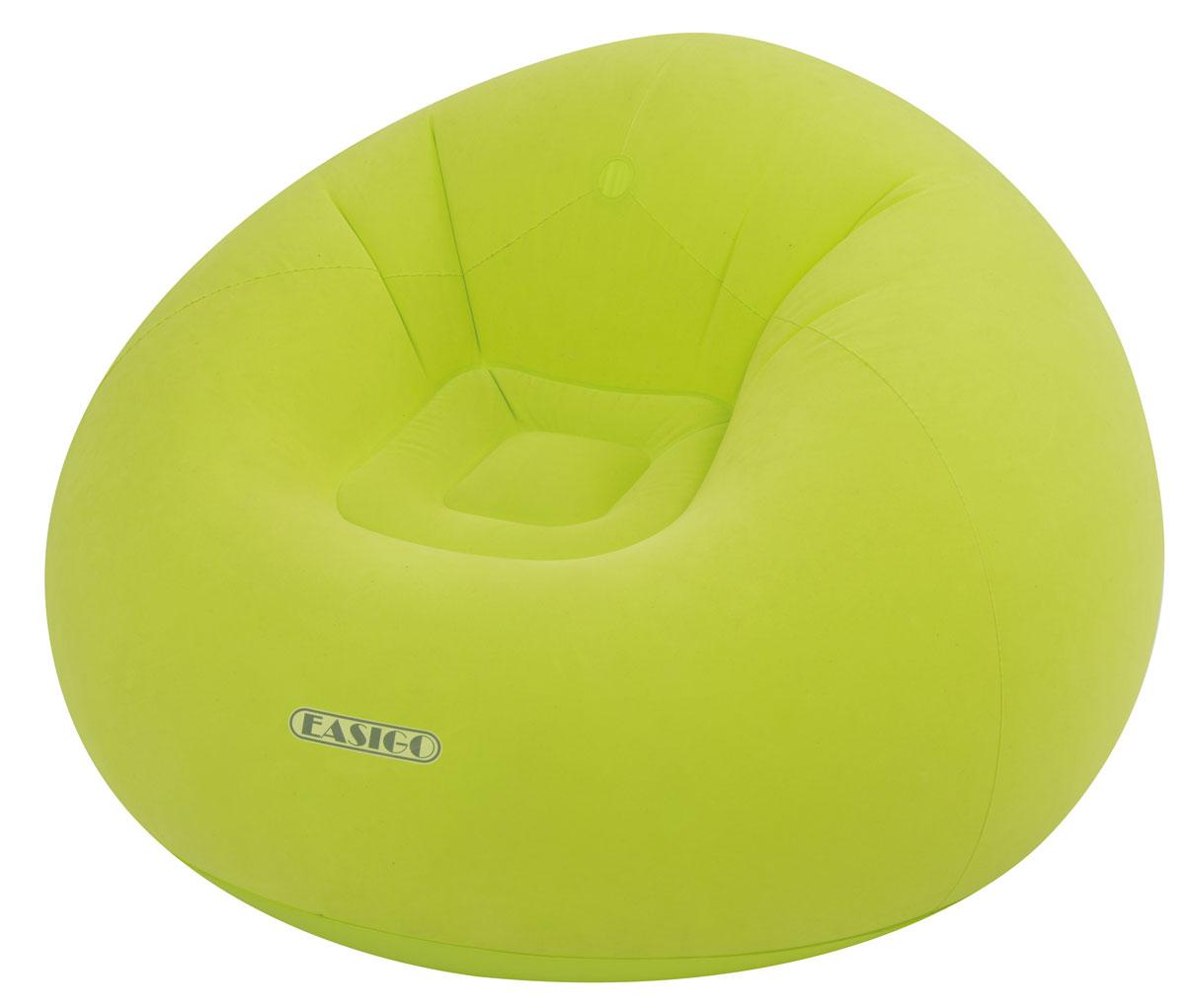 Кресло надувное Relax Easigo, цвет: салатовый, 105 х 105 х 65 см надувное кресло onlitop медвежонок 120851