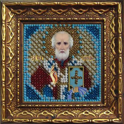Набор для вышивания бисером Святой Николай Чудотворец, 6,5 х 6,5 см 657014/010ПМИ354070Набор для вышивания бисером Святой Николай Чудотворец поможет создать красивую вышитую икону. Рисунок-вышивка бисером, выполненный на канве, выглядит красиво, стильно и модно. Вышивание отвлечет вас от повседневных забот и превратится в увлекательное занятие! Работа, сделанная своими руками, не только украсит интерьер дома, придав ему уют и оригинальность, но и будет отличным подарком для друзей и близких! Набор для вышивания содержит все необходимые материалы для частичной вышивки на ткани в технике полукрест. Лики не вышиваются. В состав набора входит: - хлопково-льняная ткань с нанесенным рисунком-схемой, - чешский бисер (10 цветов), - бисерная игла, - рекомендации по вышиванию, - текст молитвы, - багетная рамка, - задник с клеевым 2-х сторонним скотчем, - инструкция на русском языке. Размер вышивки: 6,5 см х 6,5 см. Размер вышивки (в багете): 10,5 см х 10,5 см.